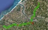 Mapování dálnice A63 (Francie)